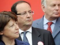 François Hollande und Martine Aubry