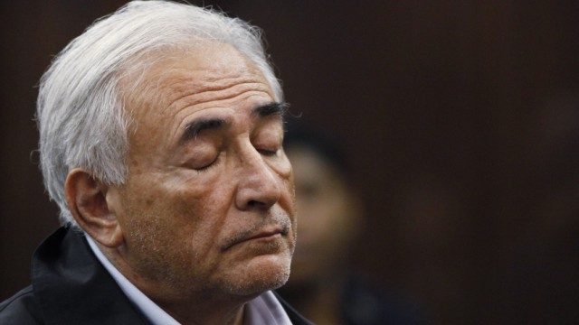 File photo of IMF chief Dominique Strauss-Kahn appearing in Manhattan Criminal Court during his arraignment in New York