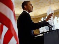 Barack Obama während seiner Rede im US-Außenministerium.