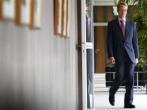 The new German central bank (Bundesbank) president Jens Weidmann arrives for a photocall at the Bundesbank headquarters in Frankfurt