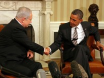 Netanyahu and Obama in Oval Office