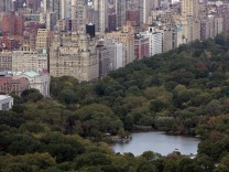 View of Central Park from the newly renovated 'Top of the Rock' observation deck