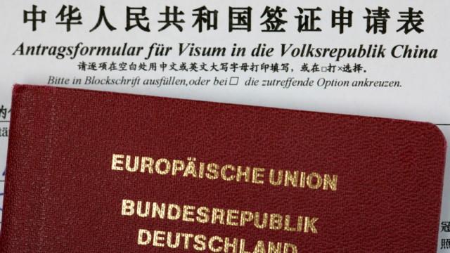 Symbolbild Antrag auf Visum für China