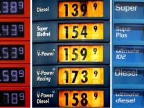 Benzinpreise an Tankstellen