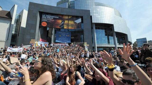 FRANCE-SPAIN-ECONOMY-POLITICS-PROTEST