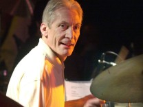 BRITISH ROLLING STONES POP STAR CHARLIE WATTS DURING HIS CONCERT IN BARCELONA