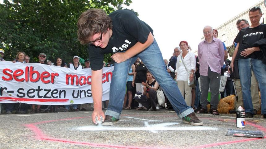 Dauersitzblockade gegen Stuttgart 21