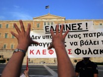 Protesters demonstrate in Athens