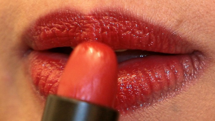 Geschminkte Lippen.