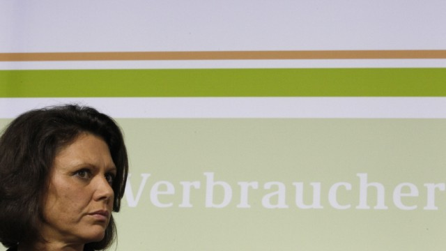 German Agriculture and Consumer Protection Minister Aigner addresses news conference in Berlin