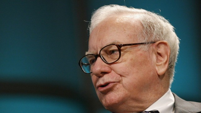 File image of Warren Buffet, CEO of Berkshire Hathaway, addresses The Women's Conference 2008 in Long Beach