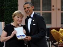 US-Freiheitsmedaille wird an Angela Merkel verliehen