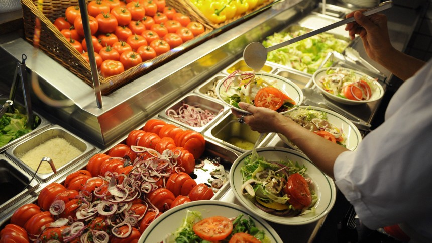 Frischer Salatteller in Hamburg