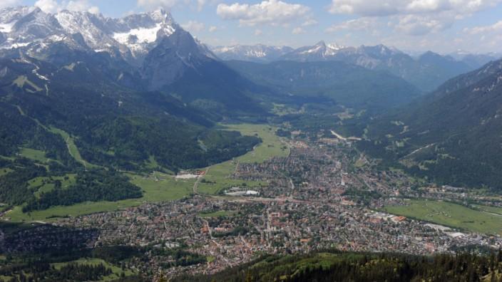 Wank Wandern Alpen Bayern Garmisch-Partenkirchen Deutschland
