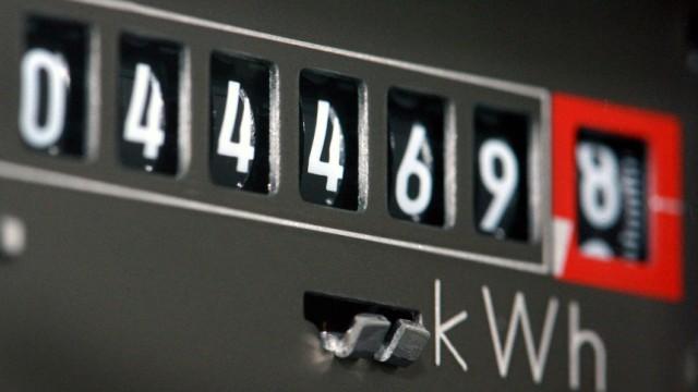 Anzeige Kilowattstunden auf einem Stromzähler