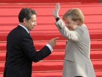 Angela Merkel trifft Nicolas Sarkozy