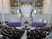 A general view shows a session of the Federal Assembly at the Reichstag in Berlin