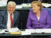 Merkel, Steinmeier, ddp