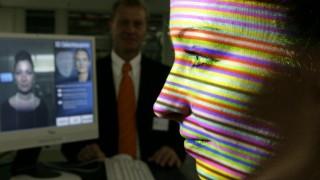 3D-Gesichtsscanner im Siemens Airport Center, 2005