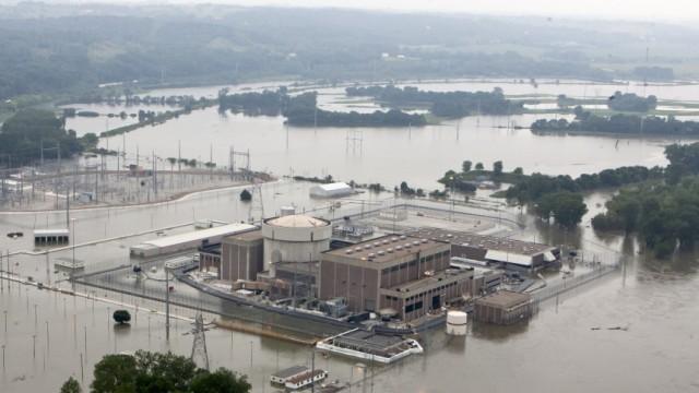 Atomkraftwerk Nach Überschwemmungen am Missouri