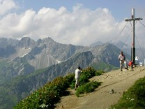 Gipfel des Fellhorn in den Allgäuer Alpen, 2006