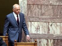 Greek parliament debate on austerity measures