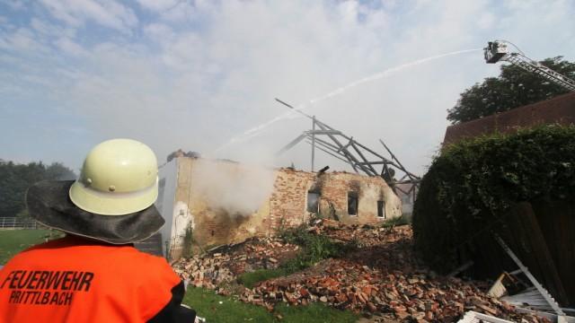 Hebertshausen Großfeuer in Goppertshofen