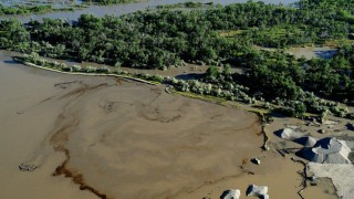 Yellowstone Ölpest im Yellowstone-Fluss