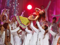 Bollywood actress Bipasha Basu dances during the International Indian Film Academy (IIFA) show in Toronto