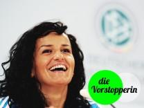Pressekonferenz der deutschen Nationalmannschaft der Frauen