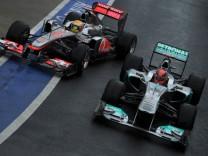 Formel 1 - GP Großbritannien - Schumacher und Hamilton