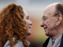 File photo of Rebekah Brooks, chief executive of News International, and Rupert Murdoch, News Corp chief executive, in Cheltenham