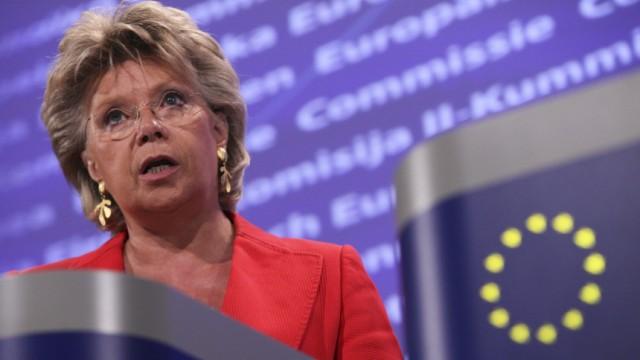 EU-Kommissarin Viviane Reding will Frauenquote