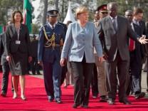 Kanzlerin Merkel in Kenia