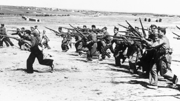 Training at Getafe barracks, Madrid, 1936.