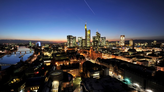 Stresstest für Banken - Frankfurter Bankenskyline