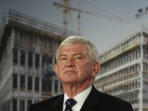 BND head Uhrlau speaks during roofing ceremony of agency's future headquarters in Berlin