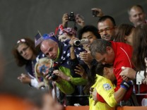 Goalkeeper of the US Solo cries after the penalty shootout against Japan after their Women's World Cup final soccer match in Frankfurt