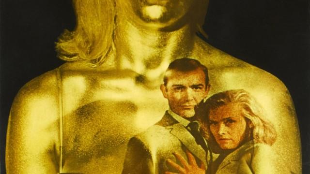 Handout of James Bond 'Goldfinger' poster
