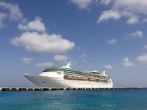 "A Royal Caribbean's cruise ship ""Enchantment of the Seas"" is seen docked in Cozumel"
