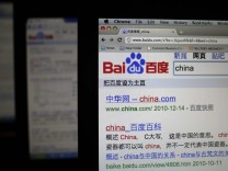 File photo illustration shows Baidu's website on a laptop screen in Shanghai