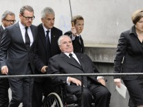 Former German chancellor Kohl and wife Maike arrive for Kirch funeral service in Munich