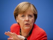 Pressekonferenz Bundeskanzlerin Merkel