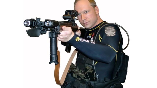 A picture of Anders Behring Breivik taken from a book downloaded from a link posted on the Norwegian discussion website, www.freak.no, and entitled '2083 - A European Declaration of Independence', is seen in this screen grab