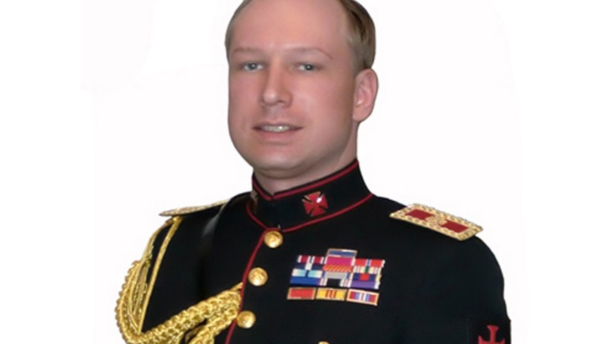 Picture of Breivik taken from book downloaded from a link posted on Norwegian discussion website is seen in this screen grab