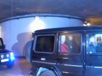 Video grab of Breivik leaving in police vehicle from courthouse in Oslo