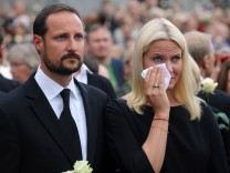 Norway attacks - Mette-Marit und Haakon