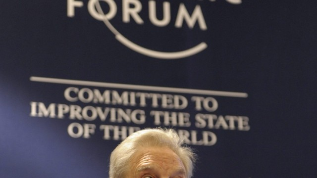 40. Weltwirtschaftsforum in Davos - George Soros