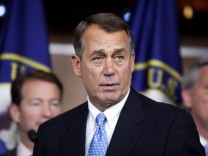 Speaker of the House John Boehner (R-OH) speaks during a news conference on Capitol Hill