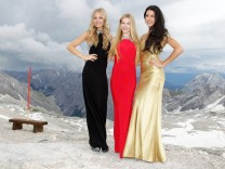 GNTM Finalists Zugspitze Photocall